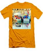 Happy And Colorful Boats In Their Own Company  Men's T-Shirt (Athletic Fit)
