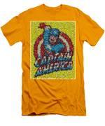 Captain America Mm Mosaic Men's T-Shirt (Athletic Fit)