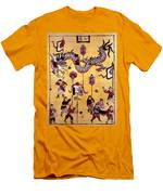 China: New Year Card Men's T-Shirt (Athletic Fit)