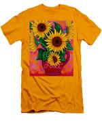 Saturday Morning Sunflowers Men's T-Shirt (Athletic Fit)