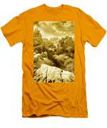 Strange Rock Formations At El Torcal Near Antequera Spain Men's T-Shirt (Athletic Fit)