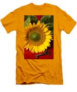 Sunflower With Old Key Men's T-Shirt (Athletic Fit)