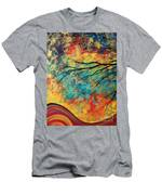 Abstract Art Original Landscape Painting Go Forth I By Madart Studios Men's T-Shirt (Athletic Fit)