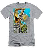 Boyd Plaza Fountain Revisited Men's T-Shirt (Athletic Fit)