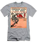 Everybody Loves A Jazz Band Men's T-Shirt (Athletic Fit)