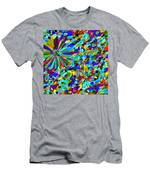 Flower Fight Abstract Men's T-Shirt (Athletic Fit)