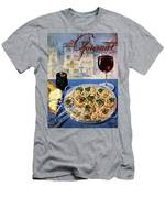 Gourmet Cover Illustration Of A Platter Men's T-Shirt (Athletic Fit)