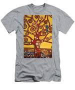 Klimt Study Tree Of Life Men's T-Shirt (Athletic Fit)