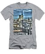 Manchester Buildings Hdr Men's T-Shirt (Athletic Fit)