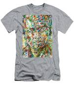 Miles Davis Watercolor Portrait.1 Men's T-Shirt (Athletic Fit)