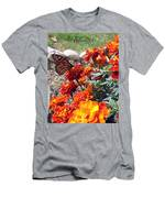 Monarch Among The Marigolds Men's T-Shirt (Athletic Fit)
