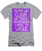 My Room Was Clean Purple Men's T-Shirt (Athletic Fit)