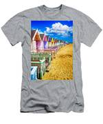 Pastel Beach Huts 2 Men's T-Shirt (Athletic Fit)