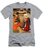 The Nativity With The Annunciation To The Shepherds In The Distance Men's T-Shirt (Athletic Fit)