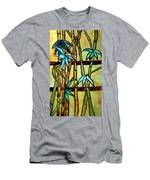 Stained Glass Tiffany Bamboo Panel Men's T-Shirt (Athletic Fit)