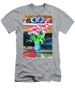 Tulips And Valentines Men's T-Shirt (Athletic Fit)