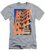 Typical Ligurian Homes Men's T-Shirt (Athletic Fit)