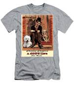 West Highland White Terrier Art Canvas Print - A Dogs Life Movie Poster Men's T-Shirt (Athletic Fit)