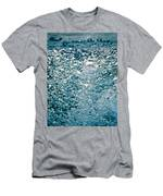 Blue White Water Bubbles In A Pool Men's T-Shirt (Athletic Fit)