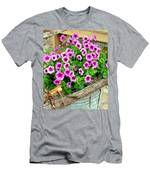 Bucket Of Blooms Men's T-Shirt (Athletic Fit)
