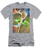 Color Etchings Of The Heart Men's T-Shirt (Athletic Fit)