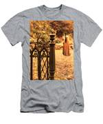 Lady In Renaissance Dress By Open Gate Men's T-Shirt (Athletic Fit)