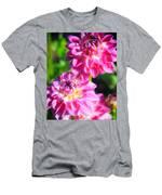 Pink Flower Pair Men's T-Shirt (Athletic Fit)