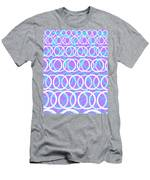 Round Cirlces Men's T-Shirt (Athletic Fit)