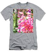 Spikes Of Pink Foxgloves Men's T-Shirt (Athletic Fit)