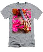 Violin And Roses Men's T-Shirt (Athletic Fit)