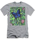 Blue Butterfly Two Men's T-Shirt (Athletic Fit)