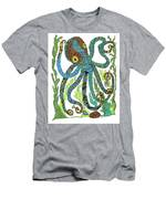 Octopus' Garden Men's T-Shirt (Athletic Fit) by Barbara McConoughey