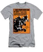1967 Barcelona Kart Racing Poster Men's T-Shirt (Athletic Fit)