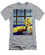 A Coastal Window Lighthouse View Men's T-Shirt (Athletic Fit)