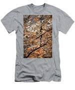 A Crack On A Brown Stone Block Men's T-Shirt (Athletic Fit)