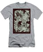 Abstract Landscape - Hand Drawn Pattern Men's T-Shirt (Athletic Fit)