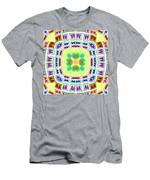 Abstract Seamless Pattern  - Yellow Green Blue Purple White Gray Men's T-Shirt (Athletic Fit)