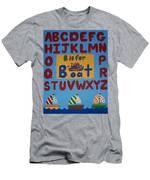 Alphabet Boat Men's T-Shirt (Athletic Fit)