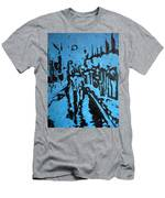 Amsterdam At Night Men's T-Shirt (Athletic Fit)