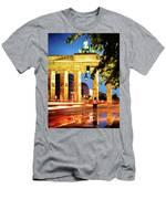 Berlin - Brandenburg Gate At Night Men's T-Shirt (Athletic Fit)