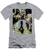 Caught In Rain Men's T-Shirt (Athletic Fit)