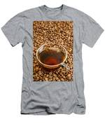 Coffee On Roasted Beans Men's T-Shirt (Athletic Fit)