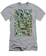 Color Combo Abstraction Men's T-Shirt (Athletic Fit)