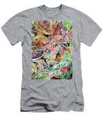 Croton Tropical Art Print Men's T-Shirt (Athletic Fit)