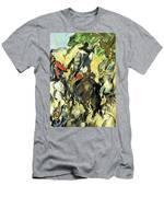 Don Quixote, View From The Back Men's T-Shirt (Athletic Fit)