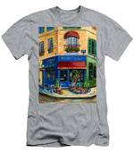 French Flower Shop Men's T-Shirt (Athletic Fit)
