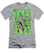 Green Color Abstract #140 Men's T-Shirt (Athletic Fit)