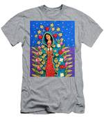 Guadalupe With Stars Men's T-Shirt (Athletic Fit)