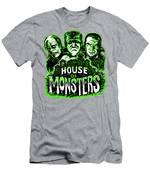 House Of Monsters Frankenstein Dracula Phantom Horror Movie Art Men's T-Shirt (Athletic Fit)