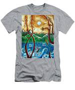 Land Of The Free Original Madart Painting Men's T-Shirt (Athletic Fit)